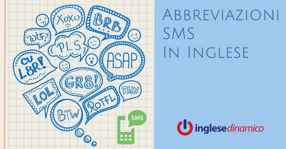 Abbreviazioni SMS In Inglese