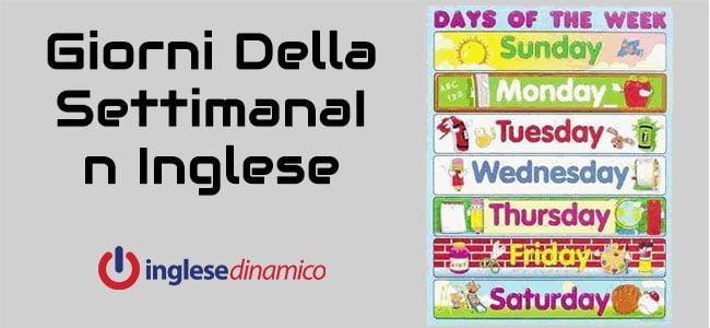 Precede Sun Nei Calendario Inglesi.Giorni Della Settimana In Inglese Scopriamoli Inglese