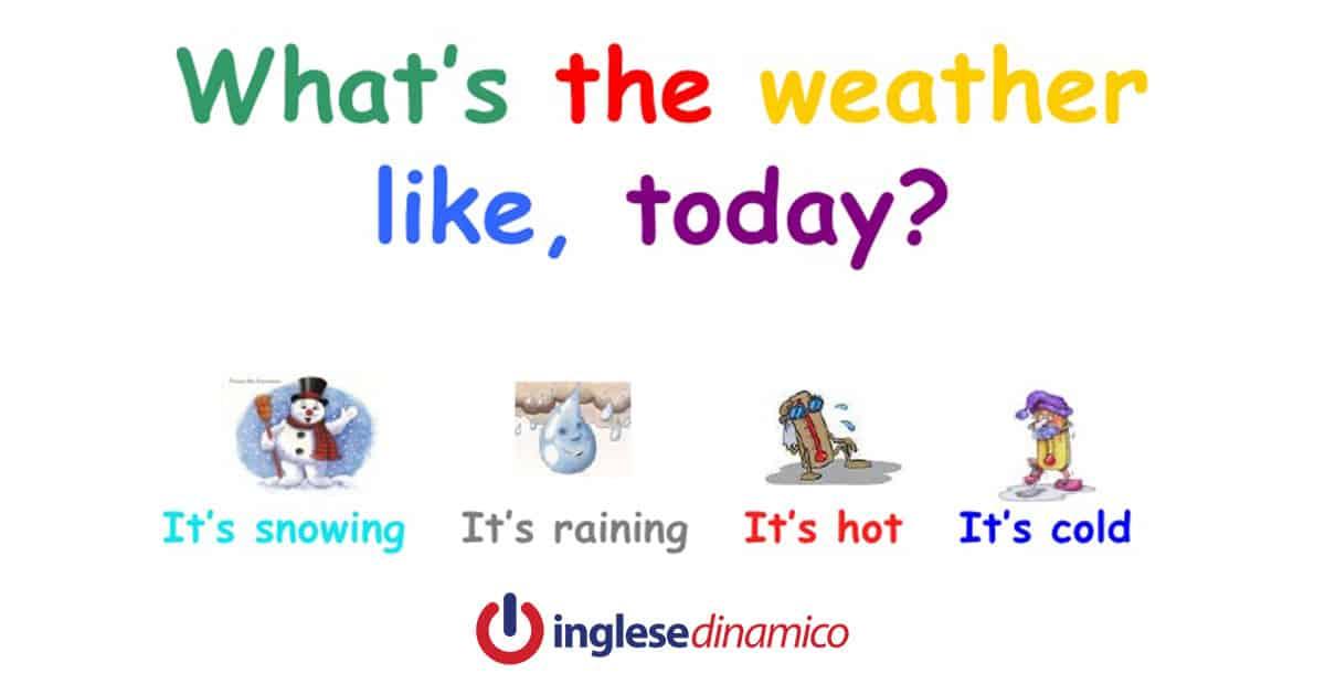Tempo Atmosferico In Inglese Vediamo Come Inglese Dinamico
